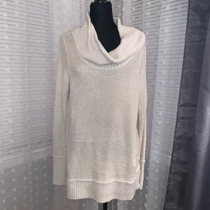 Calvin Klein Cowl Neck Gold and Cream sweater